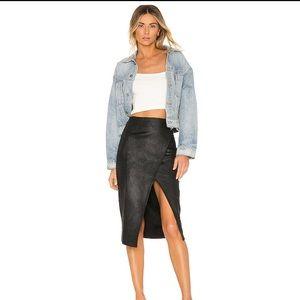 Free People Vegan Leather Pencil Skirt (M)